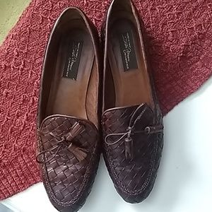 Sesto Meucci beown woven leather loafers 9